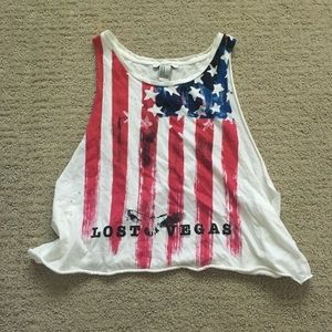 Patriotic crop top